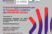 Corso di Aggiornamento per la Formazione Continua  dei REVISORI LEGALI